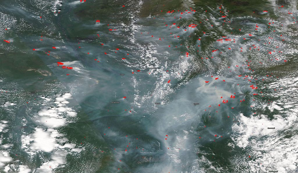 Siberian wildfires have are further north and more widespread than in years past.