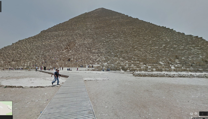 Google Street View Brings Egypt's Pyramids To A Computer Near You