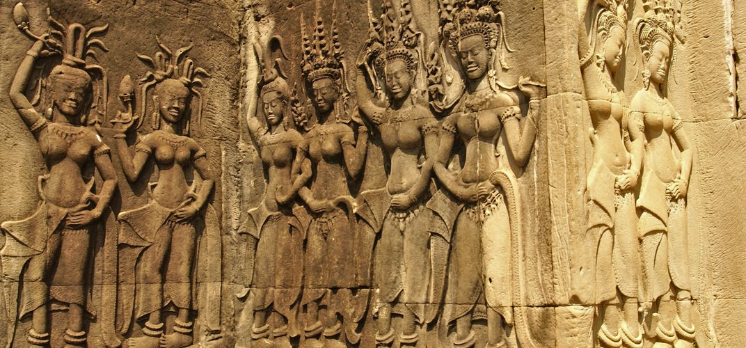 Apsara dancer relief in Angkor Wat, Cambodia
