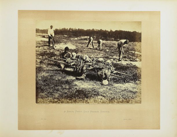 A Burial Party, Cold Harbor, Virginia by Alexander Gardner. Albumen print, 1865. Photographic History Collection, National Museum of American History, Smithsonian Institution