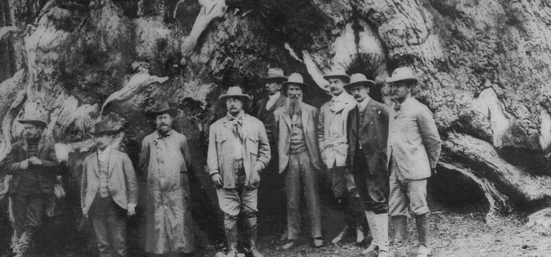 John Muir and Teddy Roosevelt,Yosemite. Credit: National Park Service