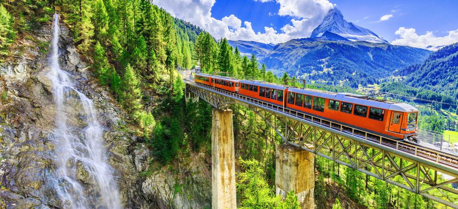 Great European Journey <p>Enjoy panoramic vistas of the Swiss Alps from the windows of historic trains, then board a deluxe river ship for a five-night cruise through France, Germany, and Holland.</p>
