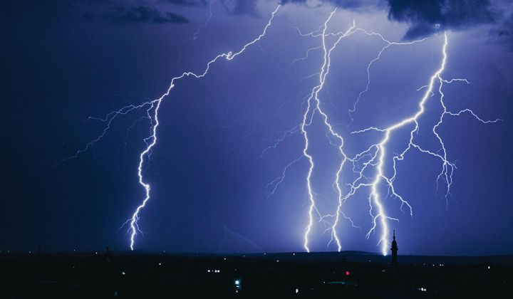 Could Straight Lightning Be a Sign of Dark Matter?