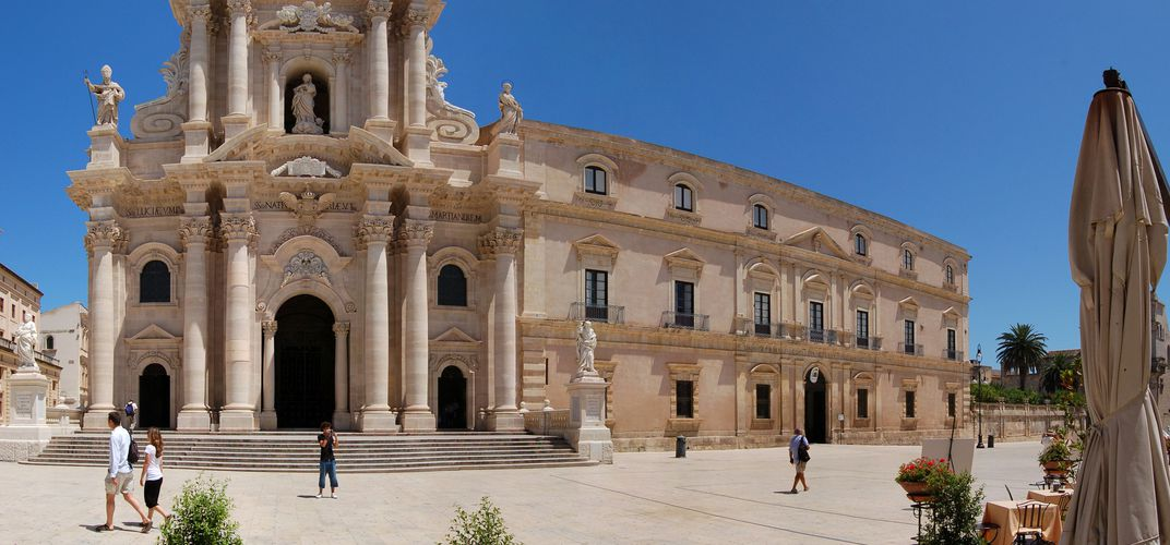 The baroque cathedral of Ortygia, Siracusa