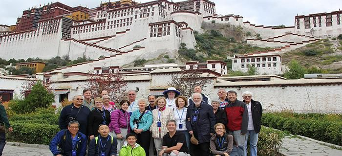 Smithsonian group at Potala Palace, Tibet