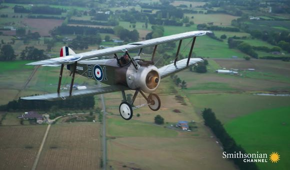 Preview thumbnail for video'Here's how you can fly in one of Peter Jackson's WWI planes.