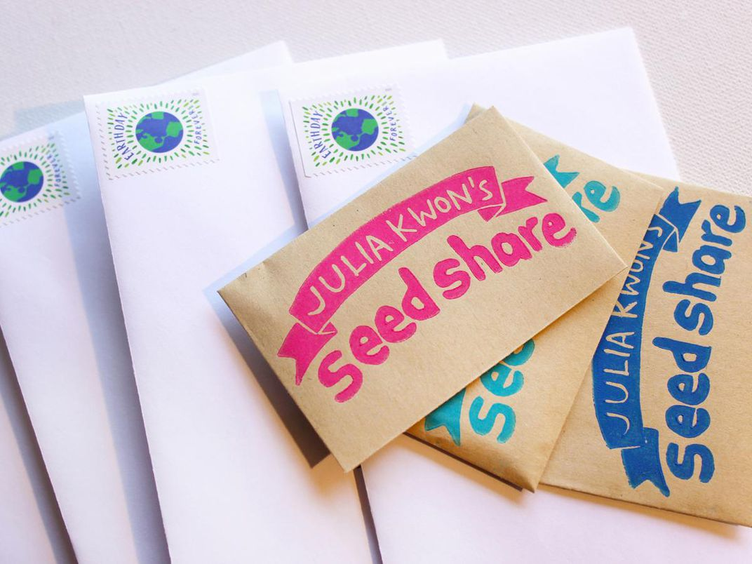 A photograph of seed packets