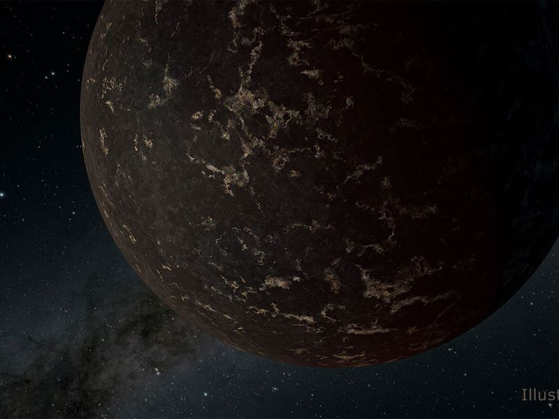 Astronomers Spy the Surface of An Airless Mercury-Like World