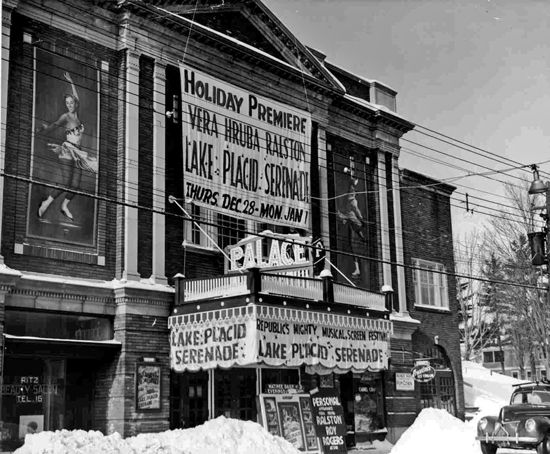 Undated photo of the theater's promotion for Lake Placid Serenade, a 1944 musical.