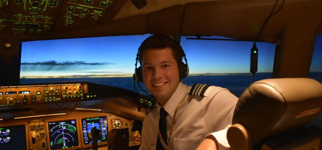Caption: The Youngest 777 First Officer in the World