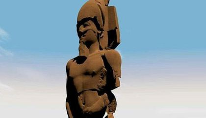 4,500 Newly Discovered Fragments Help Piece Together Massive Psamtik I Statue