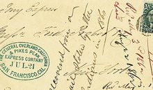 Pony Express letter