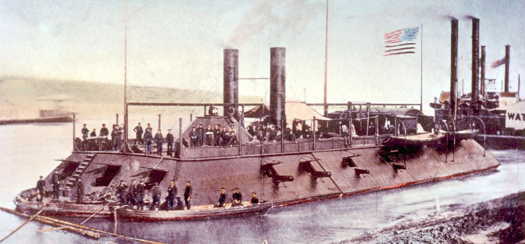 USS <i>Cairo</i>, one of the first American warships built at the start of the Civil War