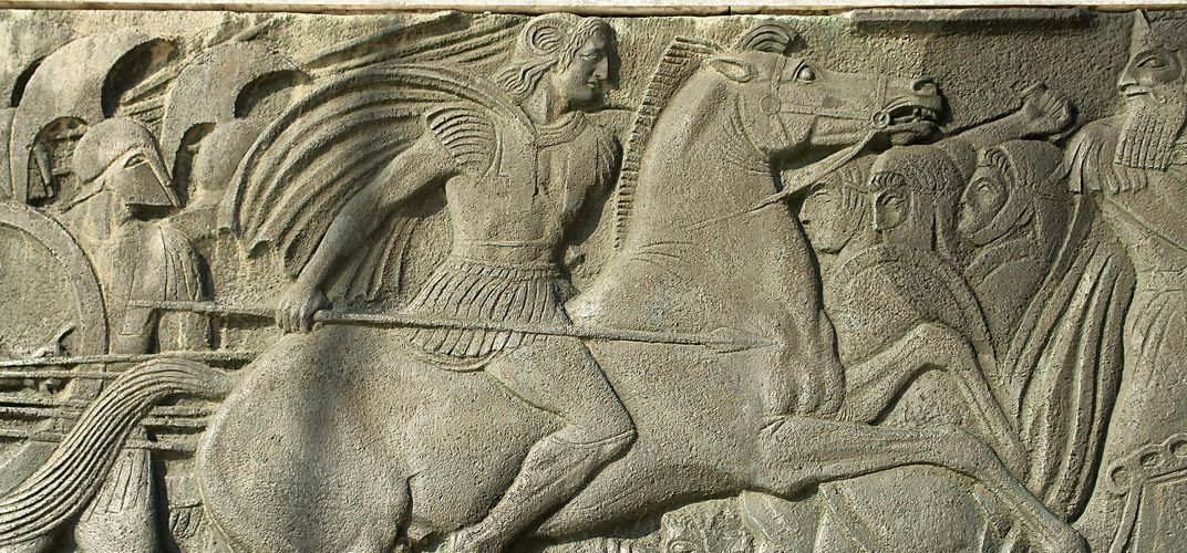 Relief in Thessaloniki, likely of Alexander the Great