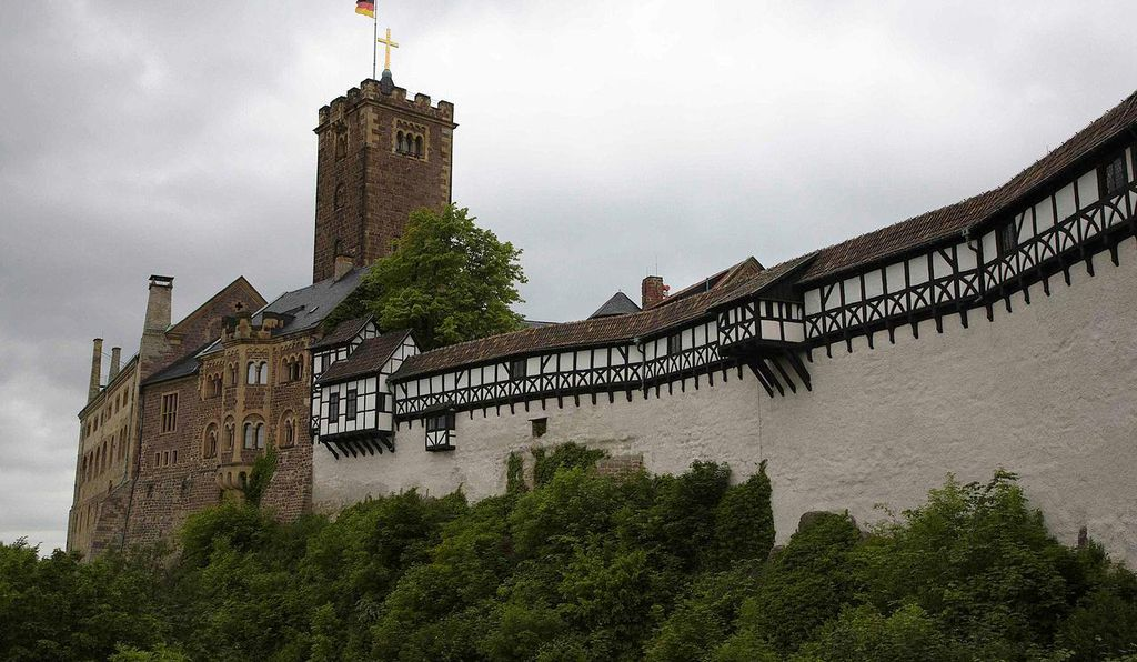 Wartburg Castle in Eisenach.