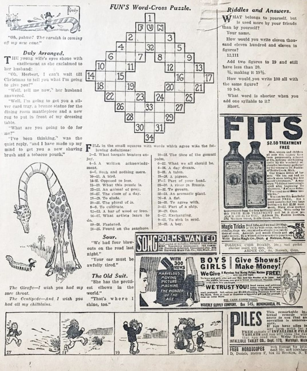 A Brief History Of The Crossword Arts Culture Smithsonian Magazine