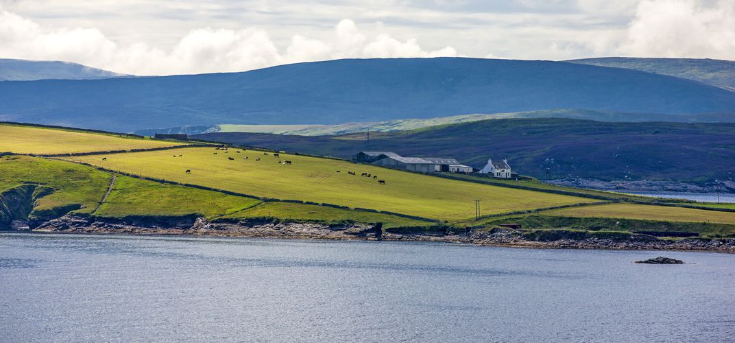 Evocative landscape of the Shetland Islands