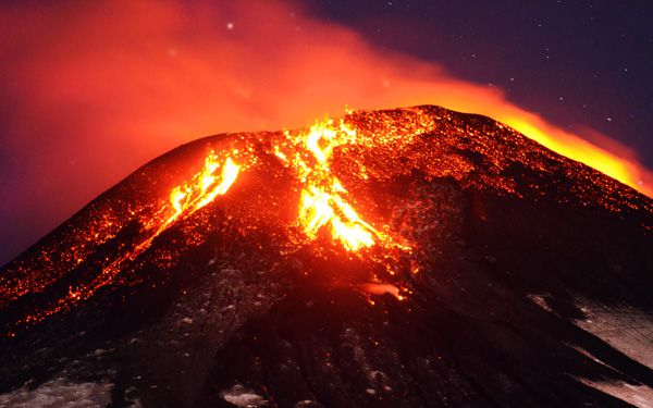Bummed out by winter? Try running from a volcano!