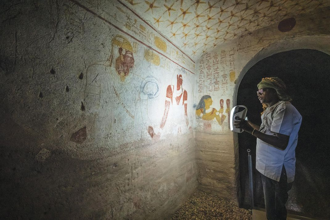 Inside the tomb of King Tantamani