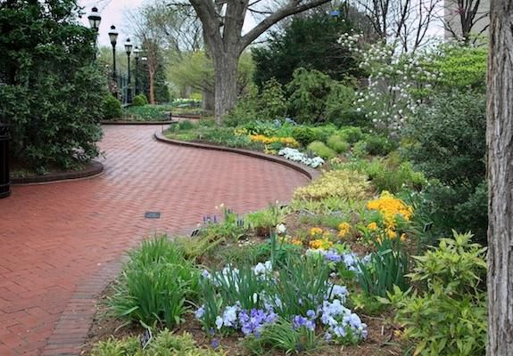 The winding paths of the Mary Livingston Ripley Garden provide a quiet retreat.