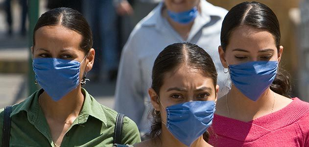 Mexicans wear masks to prevent swine flu in Mexico City