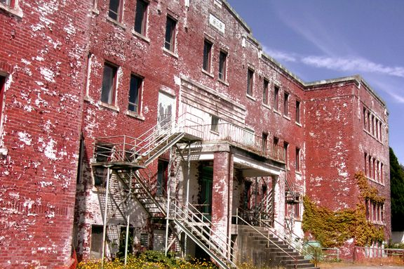 What's left of a former residential school in British Columbia