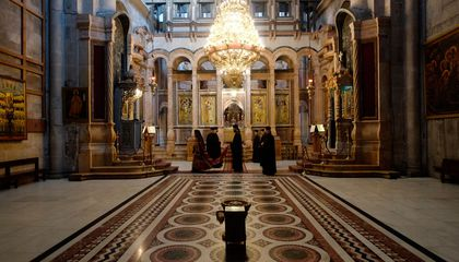 A Crusader-Era High Altar Resurfaces in Jerusalem's Holy Sepulcher