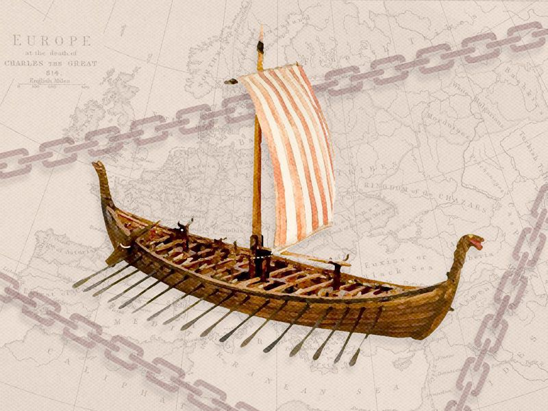 Viking ship illustration