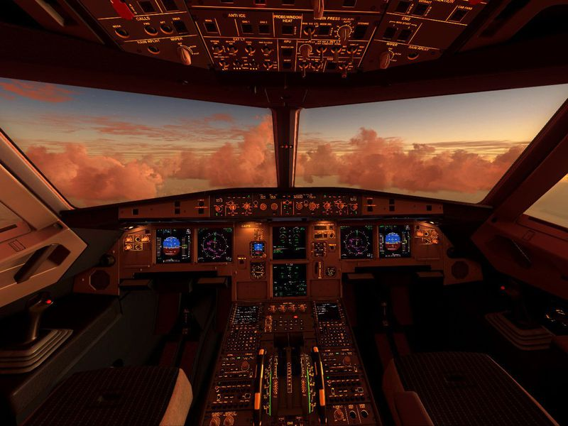 Airliner cockpits