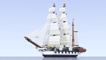 A Great Idea: Create an HMS Beagle in LEGO Form