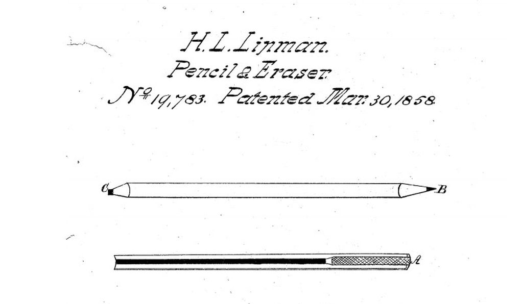 Lipman essentially imagined the pencil as having a graphite end and a rubber eraser end.