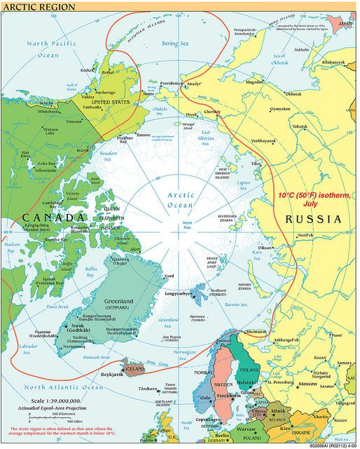 The cia is celebrating its cartography divisions 75th anniversary 2000s a map of the arctic circle and those interested in its resources cia gumiabroncs Images