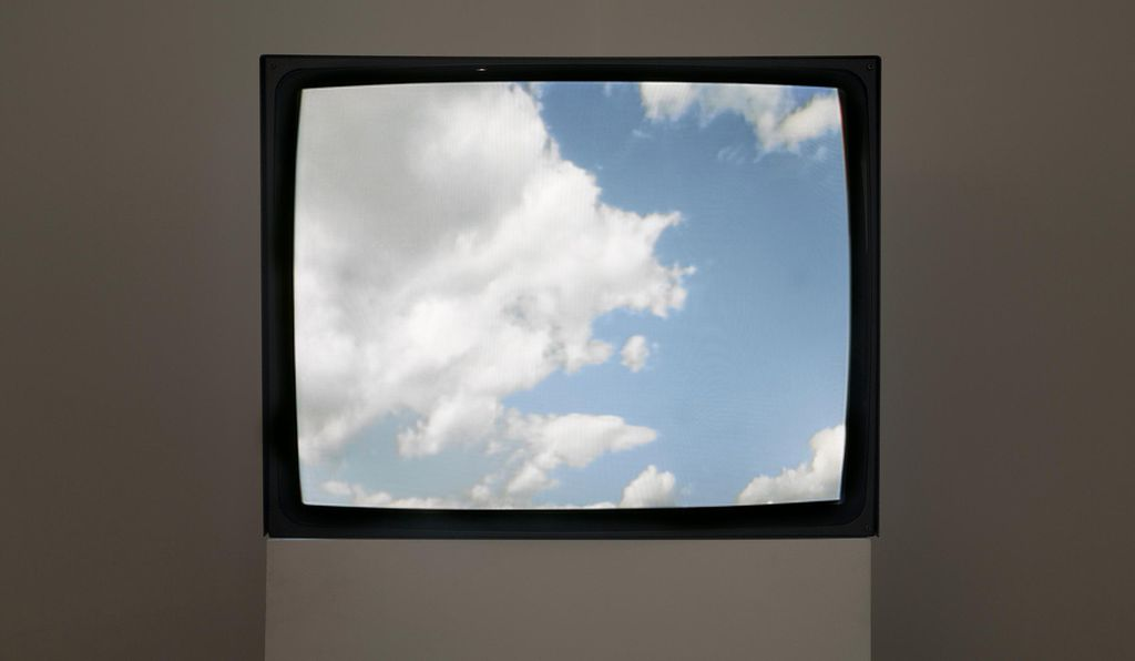 The 1966 Yoko Ono work <em<Sky TV for Washington D.C.</em> provided a 24-hour live feed of clear or stormy days.