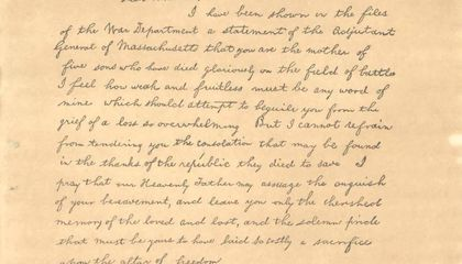 Was This Famous Lincoln Letter Written by His Secretary?