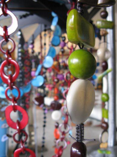 Jewelry made from tagua nut at the Tagueria in Bogota (Kenneth R. Fletcher)