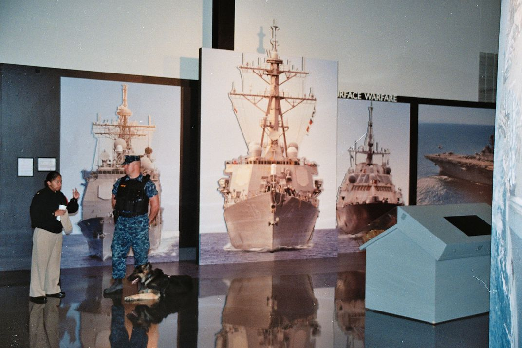 At the navy museum in Chicago, during my sons basic training