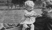 Francis Crick and Son DNA Secret of Life