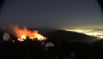 Historic Mount Wilson Observatory Threatened by Bobcat Fire in Los Angeles