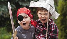 Children playing pirates