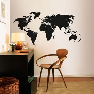 World map chalkboard decal none smithsonian store gumiabroncs Gallery
