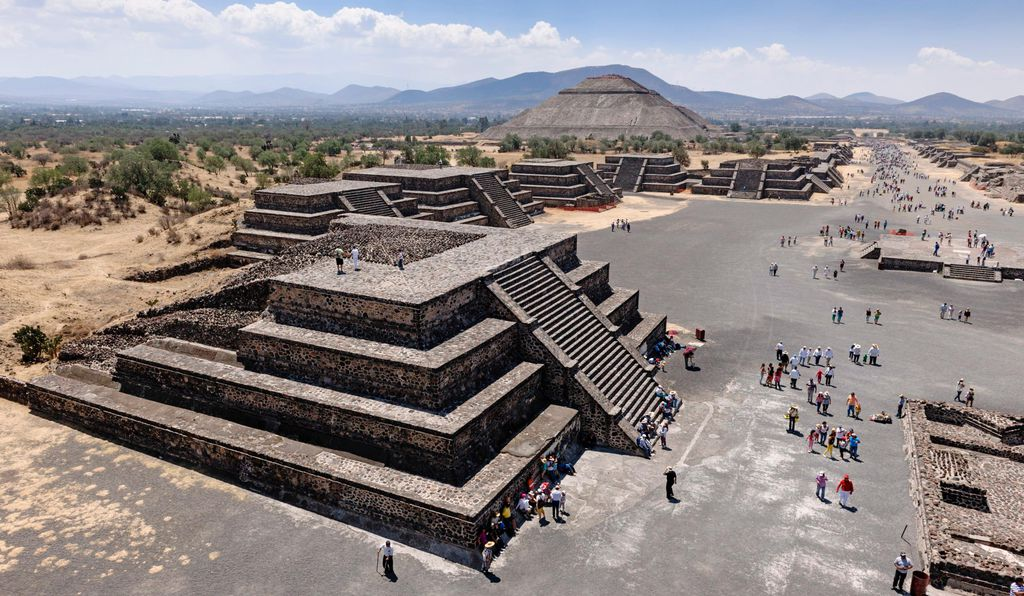 View from the Pyramid of the Moon at Teotihuacan.