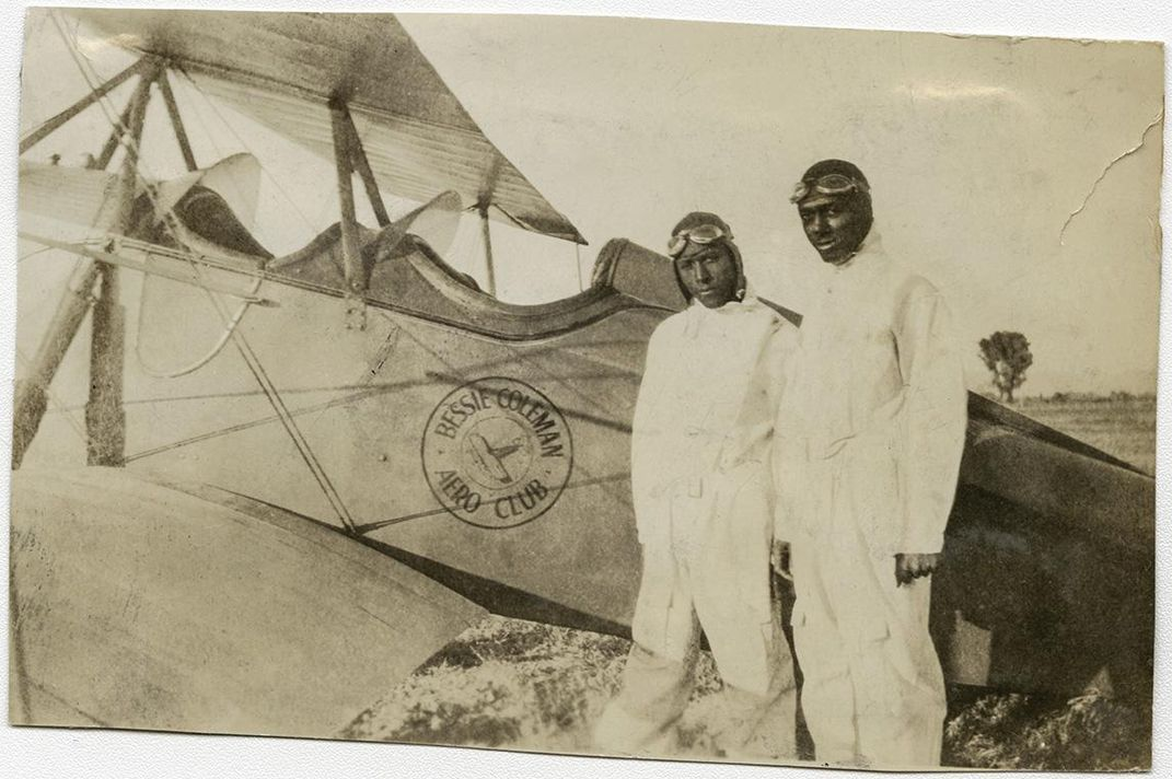 Powell with a JN-4 Jenny