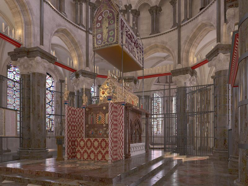 Reconstruction of Thomas Becket's shrine