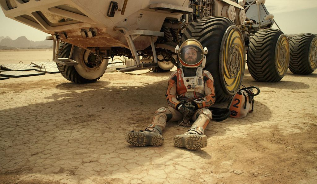 Watney's survival means a long journey across the Martian surface in a slow, solar-powered rover.