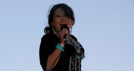 Country artist Victoria Blackie (Navajo)