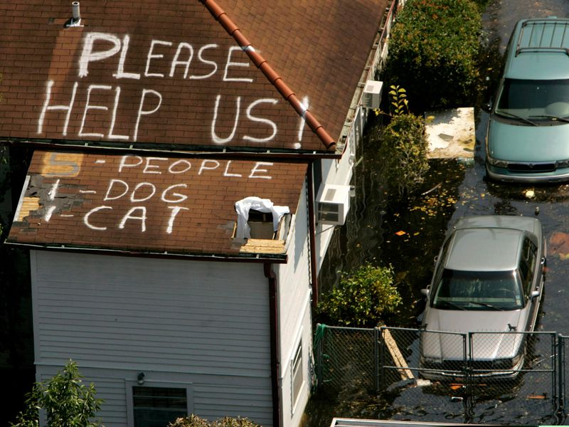 Hurricane Katrina plea for help