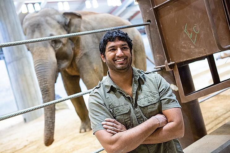 Sateesh Venkatesh at the National Zoo