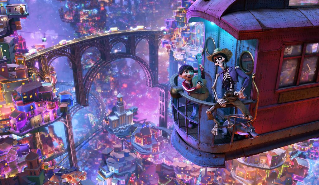 The film's depiction of the land of the dead is visually vibrant, a whimsically imagined illustration of this traditional realm.