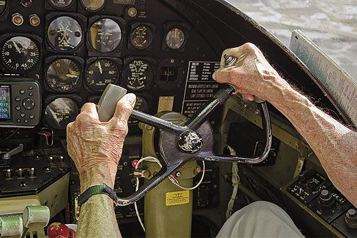 Cole, who was Jimmy Doolittle's copilot, took the controls on a 45-mile flight from Sarasota to Punta Gorda.