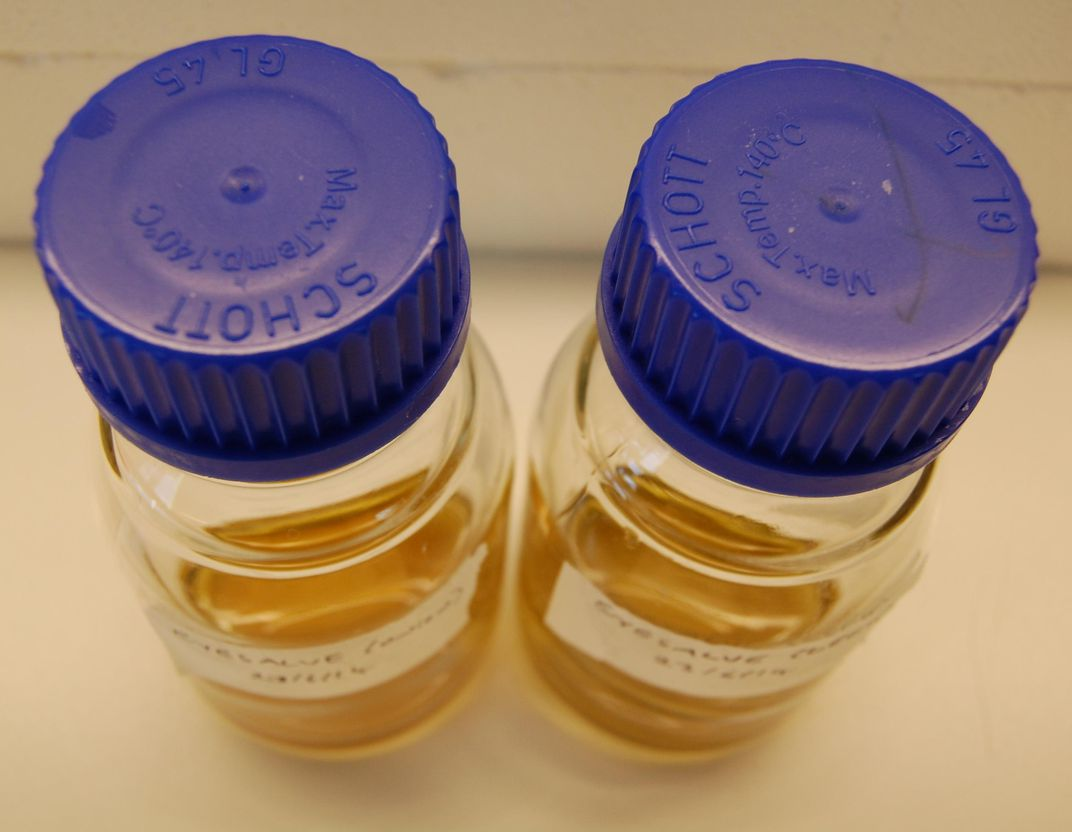 Vials of the recreated salve